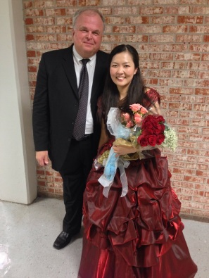 After Performance of Tchaikovsky Piano Concerto with New Orleans Civic Orchestra